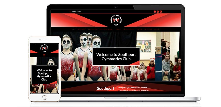 Website for Southport Gymnastics Club